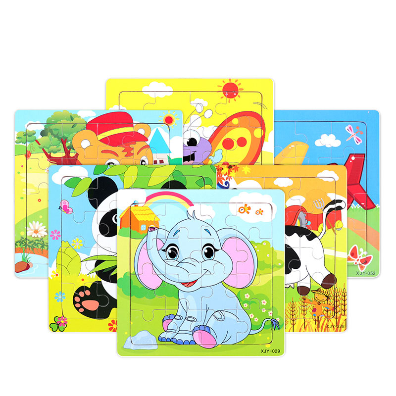 Wooden Puzzles For Kids Educational Toys For Children Jigsaw Puzzle Baby Wooden Toys Cognition Puzzle Size 14.8 *14.8 Cm