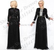 Black abaya in dubai kaftan modern islamic clothing underscarf maxi long sleeve hijab evening party dresses 2016 fast shipping
