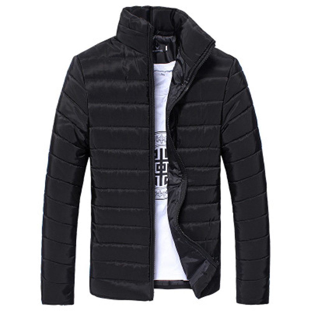 Jacket Coat Light Winter Thin Men Warm Zipper Cotton Casual for Thick title=
