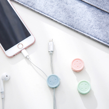 8PCS Round Clip phone Cable Winder Bobbin clamp protector Earphone Ties Organizer Wire Cord Fixer Holder Collation Management 20pcs pack self adhesive wire organizer line cable clip buckle plastic clips ties fixer fastener holder