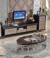 Stainless Steel Marble Oval Table