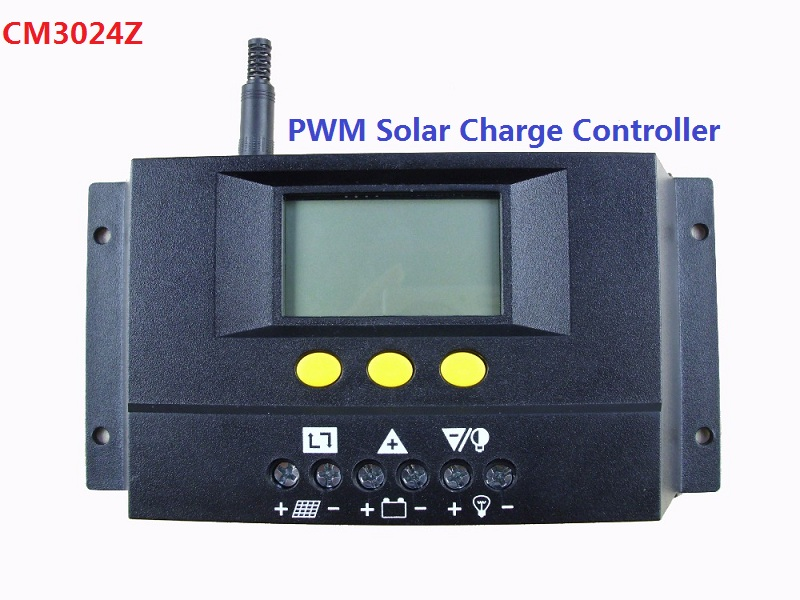 CM3024Z 30A 12/24V or CM3048 30A 48V Regulator Charge Controller PWM Mode LCD Solar new arrival pwm mode 12v 24v 30a automatic solar charge controller show battery 30a solar charge regulator for road light