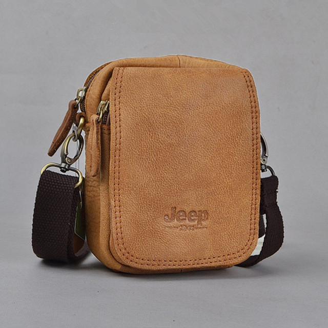 Famous Brand Vintage Natural Genuine Leather men messenger bags Small bag  Casual men shoulder bags waist 77d093ac653c4
