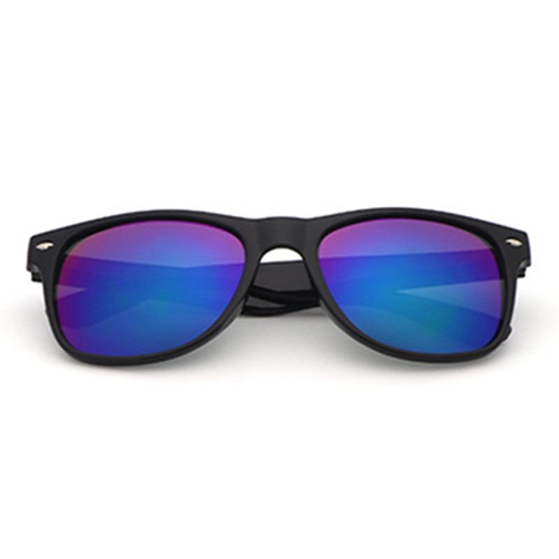 Black Frame Simple Plastic Sunglasses Driver Driving Mirror For Male Women Outdoor Sun Glasses Riding Skating Cool Boy Anti-UV