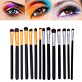 7 pcs Pro Eye Makeup Brush Set Horse Hair Eyeliner Eyeshadow Brush Eyebrow Brushes Kit Cosmetic Eye Brushes Makeup Tools