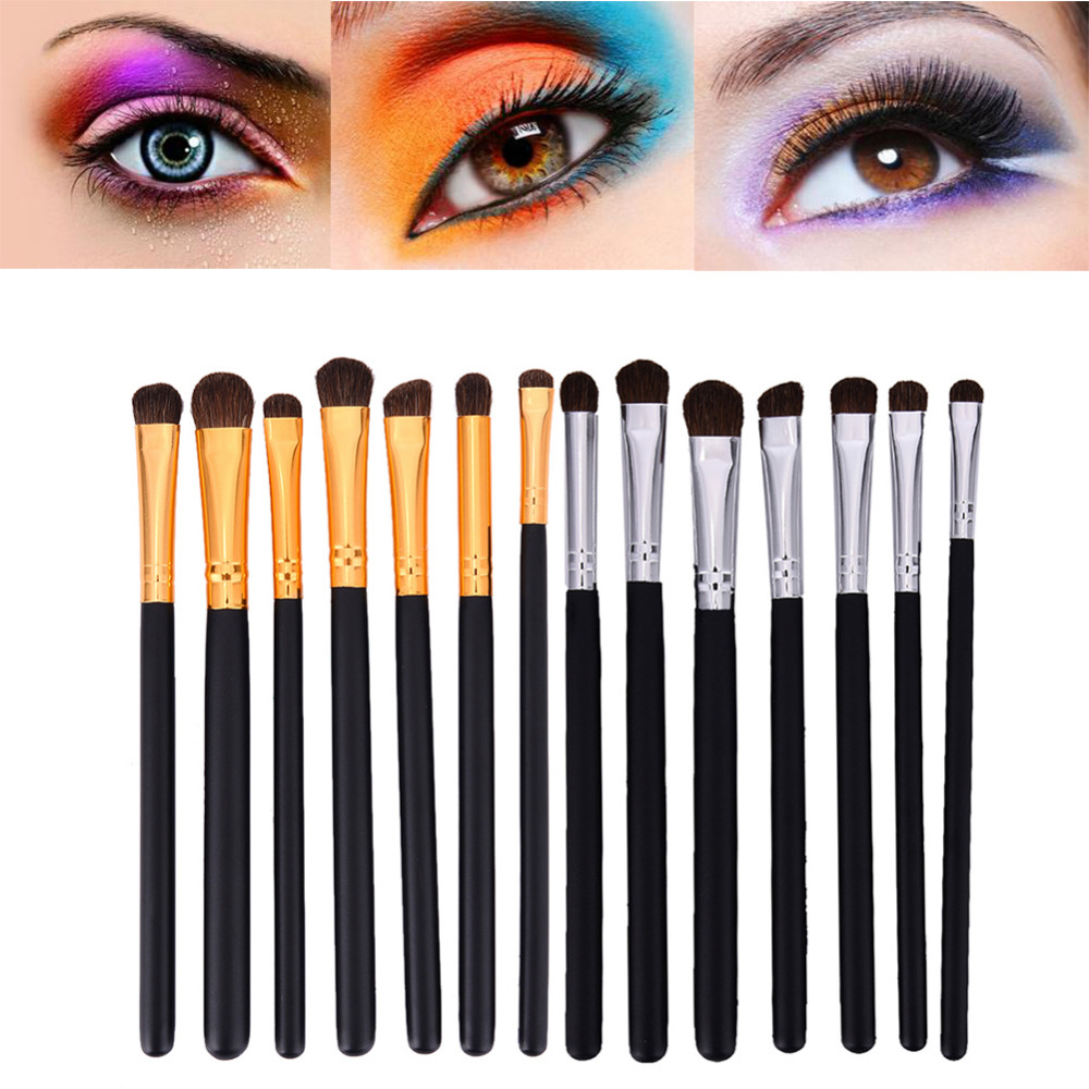 7 pcs Pro Eye Makeup Brush Set Horse Hair Eyeliner Eyeshadow Brush Eyebrow Brushes Kit Cosmetic Eye Brushes Makeup Tools ...
