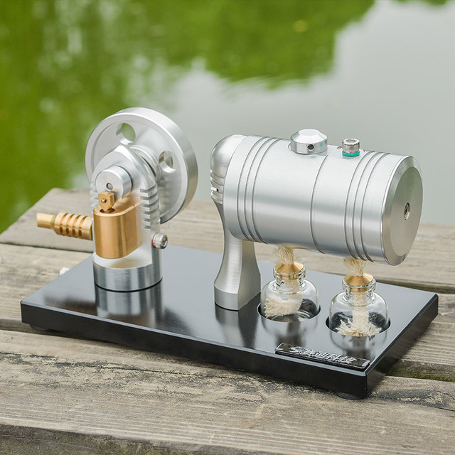 US $102 19 27% OFF  Steam engine model Steam engine Retro steam engine with  heating boiler alcohol lamp-in Model Building Kits from Toys & Hobbies on