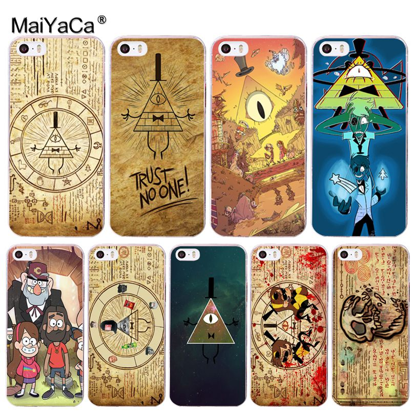 Us 101 49 Offmaiyaca Gravity Falls Wallpaper Colorful Cute Phone Accessories Case For Iphone 11 Pro 8 7 66s Plusx 10 5s Se 5c Xs Xr Xs Max In