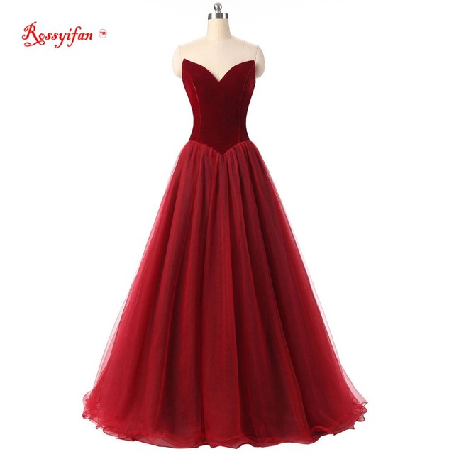 Rossyifan Formal Gowns V Neck Corset Lace Up Prom Dress 2017 Tulle ...