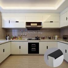Фотография HOT 10PCS Modern Style Kitchen Door Furniture Handles Cupboard Drawer Wardrobe Cabinet Invisible Hidden Pulls Handles and Knobs