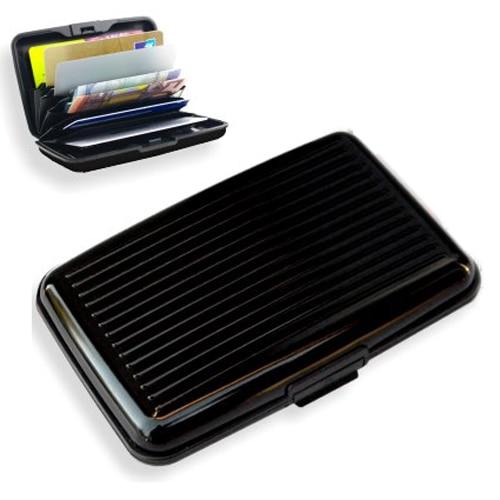 Wholesale 5pcs ( Business Id Credit Card Holder Wallet Aluminum Metal Case Box-Black