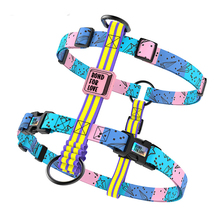 Printed Dog Pet Harness Dog Chest Collar Pet  Adjustable Vest 4 Size S M L XL For Small Medium Big Dogs German Shepard