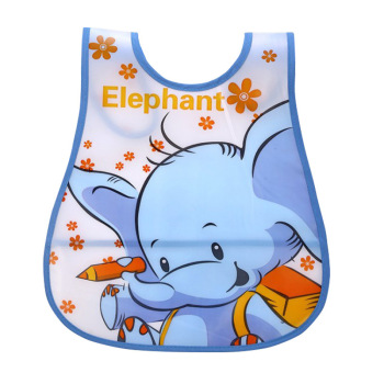 New Baby Bibs Newborn Cartoon Feeding Cloth EVA Plastic Waterproof Lunch Feeding Bibs Children Adjustable Feeding Accessories
