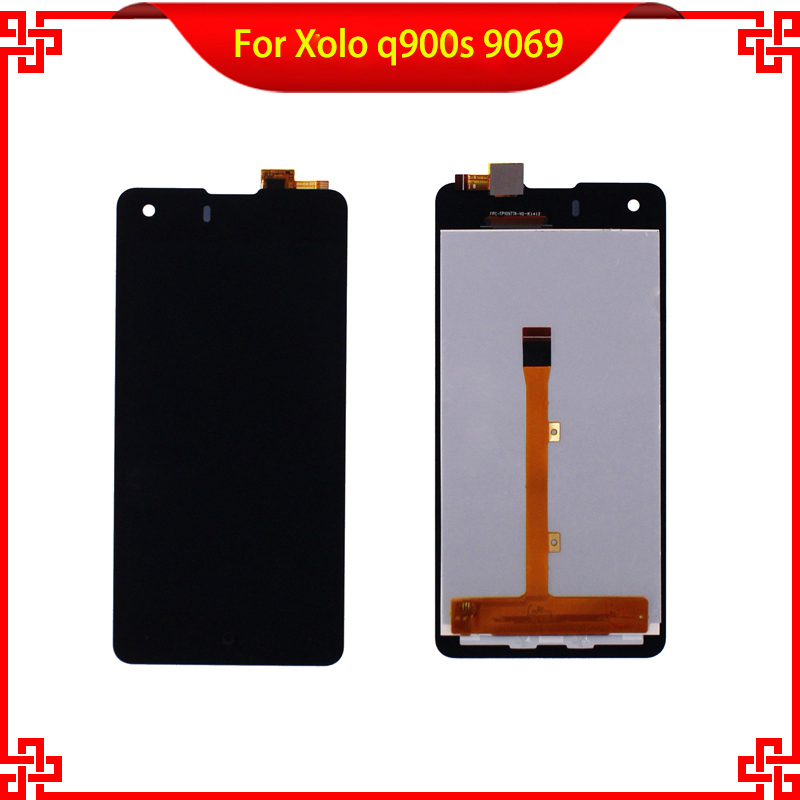 ФОТО For Xolo q900s 9231t LCD Display + Touch Screen Black Color Mobile Phone LCDs With Touch Panel