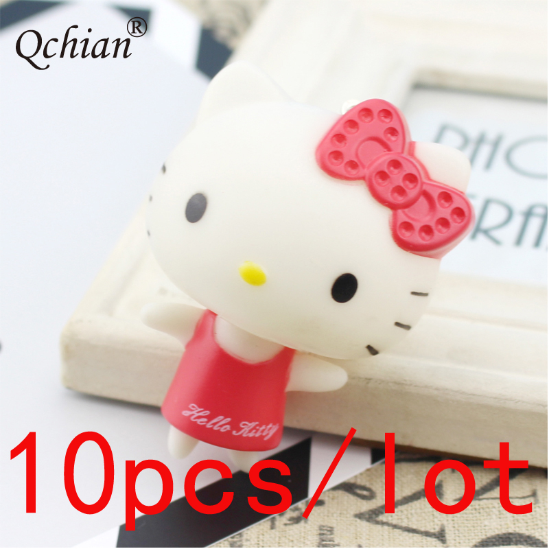 10pcs/lot Backpack Car Key Decoration Keychain  Loli Bow Tie Kitty Cat Jewelry Pendant Beautiful Gift