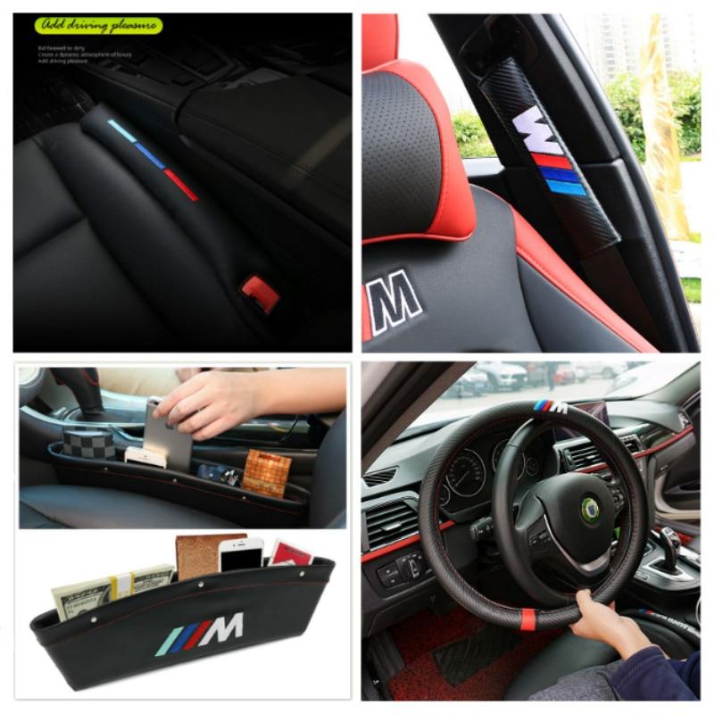 цена на M logo Car Interoir Accessories For BMW 1 3 5 7 series E46 E39 E53 E36 F22 E87 E90 E91 E92 M3 E60 E61 M5 E65 X5 X3 Car styling
