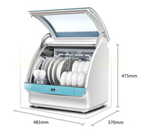 18 Free Standing Mini Countertop Electric Dish Washer Hands Free Installation Automatic Dishwasher Machine For Dishes