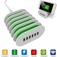 Universal USB Charging Station 6 Ports Multi Functional USB Charger Docking For IPhone IPad Tablets US
