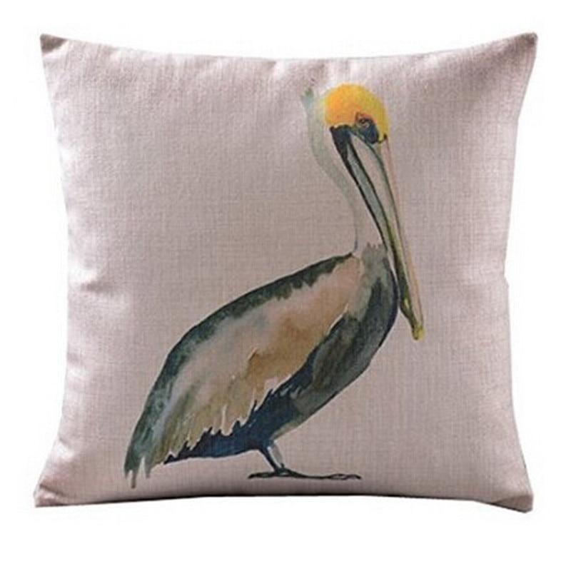 2017 простой утка печати подушку чехол животных Птицы подушки Чехол ждать подушка в винтажном стиле квадратный распродажа