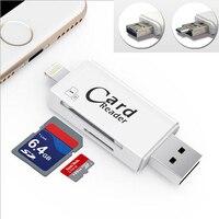 High Quality USB 2 0 Card Reader TF Micro SD Card OTG USB Adapter Lightning USB
