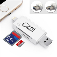 High Quality USB 2 0 Card Reader TF Micro SD Card OTG USB Adapter Lightning USB