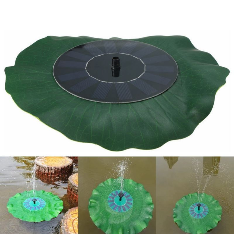 Solar Powered Wasserpumpe Panel Kit Lotus Blatt Schwimmdock Pumpe Brunnen Pool Gartenteich Bewässerung Tauchpumpen