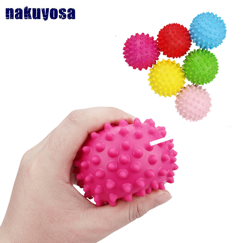 8cm PVC Throw Squeeze Spiky Massage Funny Toy Children Sports Kids Toy Gifts