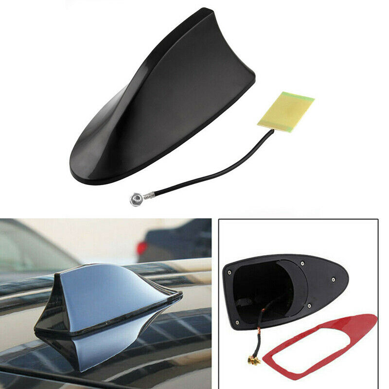 HOT Universal Auto Car Shark Fin Roof Decorative Decorate Antenna Aerial Silver