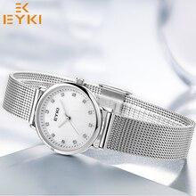 Фотография EYKI High quality waterproof Quartz-Watches Stainless Steel Wristwatches Fashion Women light Watch Ladies casual wrist watch