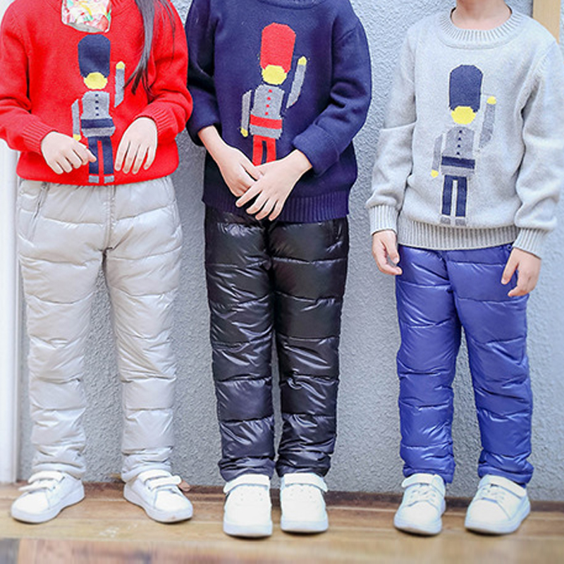 New Children Down Pants Girls Pants Boys Pants Children Clothes Girls Winter Children Down Pants Kids Girl Autumn Kids Leggings