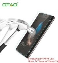 Для Huawei P6 P7 P8 lite Honor 6 7 3C 4C 3X Закаленное Стекло Защитная Пленка Мобильные Телефоны, Аксессуары с Чистки комплекты