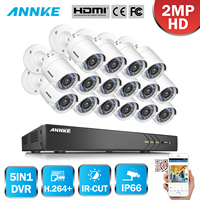 ANNKE Video Recorder 16CH 1080P TVI DVR 16x Home IR Security Cameras System