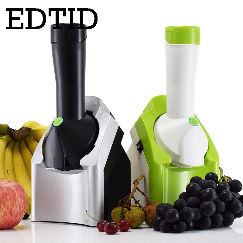 EDTID DIY mini fruit ice cream maker household automatic self-cold electric small soft icecream making machine frozen dessert EU square pan rolled fried ice cream making machine snack machinery