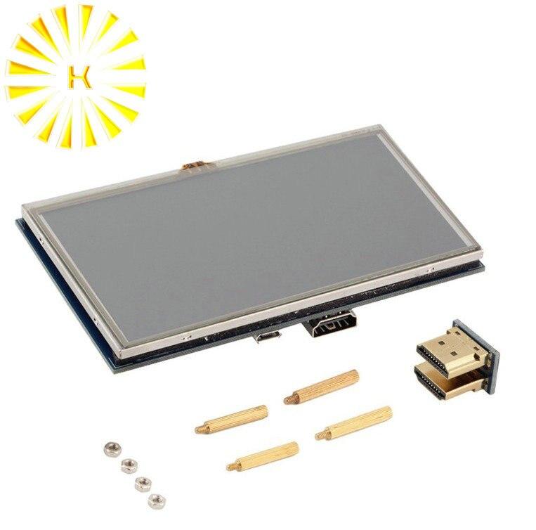 5 pouces Raspberry Pi 3 LCD écran tactile HDMI Module d'affichage TFT LCD 800*480 pour Raspberry Pi 3 modèle B + connecteur de stylo tactile