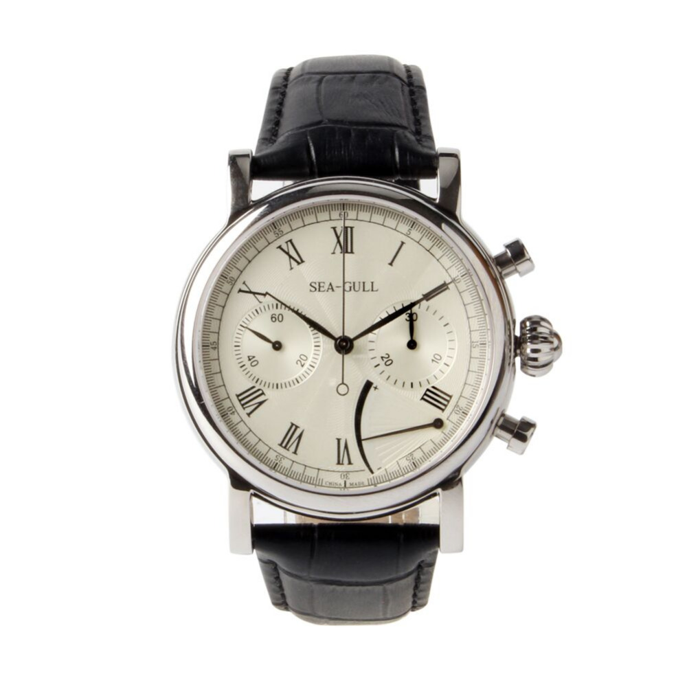 Sea Gull Rare Multifunction Power Reserve Chronograph Onion Crown Exhibition Back Hand Wind Mechanical Men s
