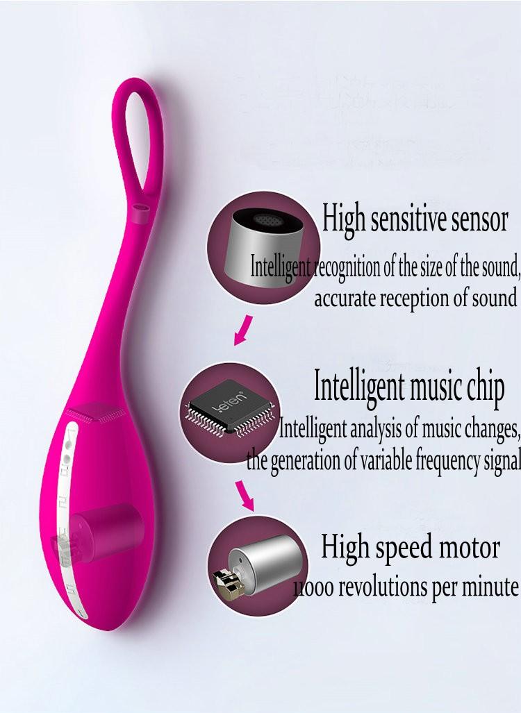 LETEN Intelligent Wireless Music Control Vibrating Egg Mute Waterproof Bullet Vibrators for Women Adult Sex Toys Body Massager 2