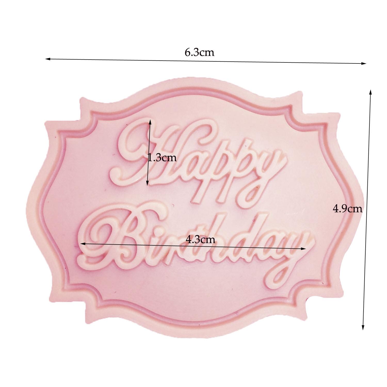 M0070 Feliz Cumpleaños forma de Carta de silicona molde fondant de - Cocina, comedor y bar - foto 6
