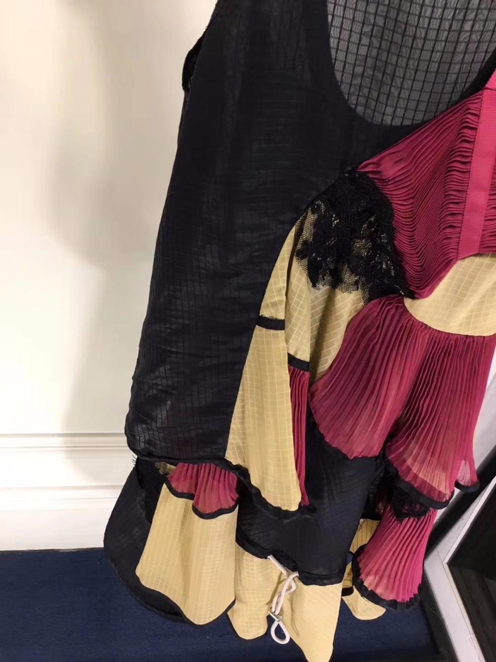 A nova moda vestido feminino de alta qualidade populares vestidos de verão para as mulheres vestido de festa ruffle femme robe ete 2018 do vintage - 4