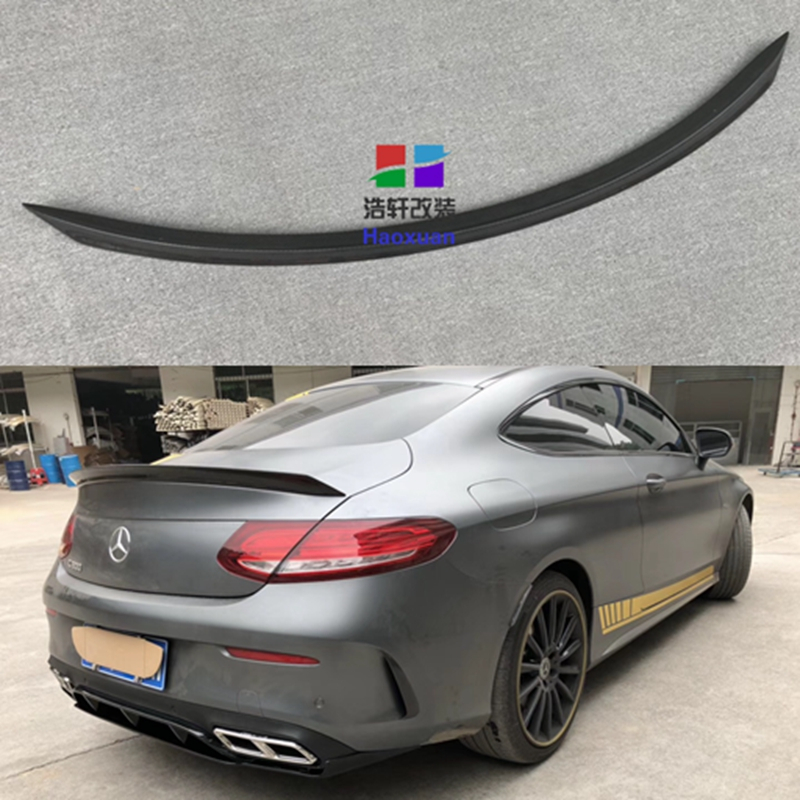 For <font><b>Mercedes</b></font> C Class W205 <font><b>Spoiler</b></font> Carbon Fiber <font><b>Rear</b></font> Trunk <font><b>Spoiler</b></font> wing C200 C250 <font><b>C300</b></font> C180 C350 Coupe 2 Door Car 2014 - UP image