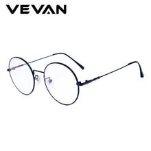 VEVAN 2018 Retro Round Anti-Blu-ray Eyewear Frames Women Glasses Frame Men UV400 Eyeglasses Optical With Box
