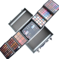 Professional Makeup Artist Fashion Aluminum Cosmetic Case Eyeshadow Pallete Make up Kit Lipgloss Concealer Blusher Eyeliner New