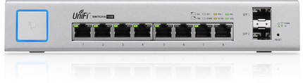 UBNT UniFi Switch US-8-150W 802.3af/at Managed PoE+ Gigabit Switch with SFP UBNT Unifi Switch unifi switch us 48 500w 802 3af at managed poe gigabit switch with sfp ubnt unifi switch