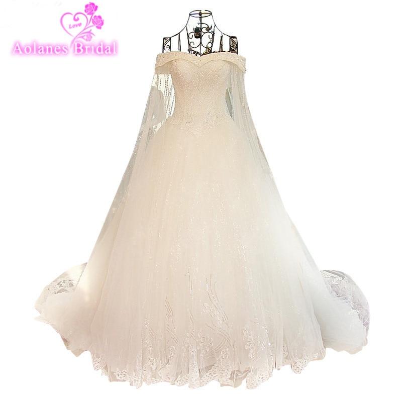 Ny Arrival Elegant A-Line Spets Sequins Bröllopsklänning 2017 - Bröllopsklänningar - Foto 1