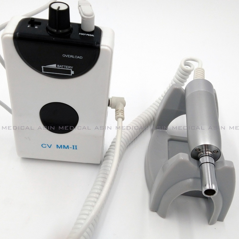 Image 2 - Novo 50000rpm dental portátil mini micro motor sem escova  micromotor elétrico com handpiece reta unha polimentodental  portablemotor dentaldental micro motor