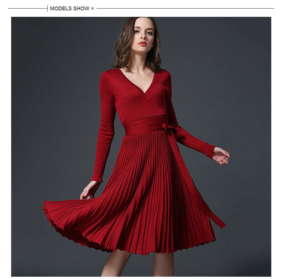 Hohe Qualität Elegante Winter Kleid 2017 Büro Kleider Für Frauen ...