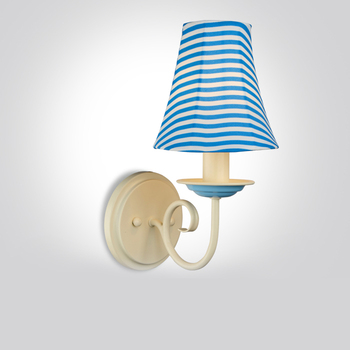 Retro Mediterranean blue wall lamp. Idyllic minimalist living room bedroom bedside aisle Wall sconce corridor  lamps.