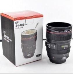 Free shipping CPAM Coffee camera lens mug cup Caniam logo Drop shipping