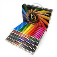 120 unids/lote 120 colores madera lápiz pintura dibujo papelería artista aceite Color boceto arte lápices regalos suministros escolares