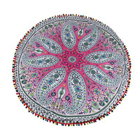 Happy Sales Factory Price Summer convenient Indian Round Mandala Tapestry Wall Hanging Towel Boho Beach Yoga Mat Decor Aug22