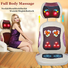 Free shipping + Comfortable Vibration&Shiatsu Rolling Massage Pad Massage Chair Cushion  with Heat for Home&Office Hot Sale